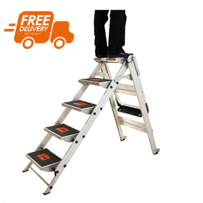 Little Giant Safety Step Stair Ladder 5 Steps 1 2m