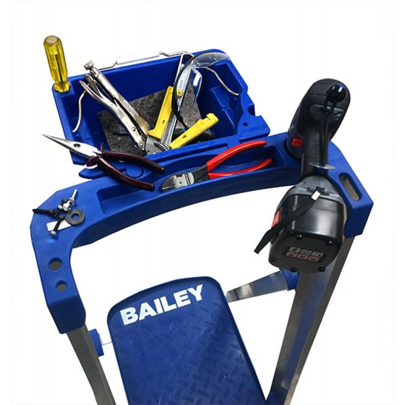 Bailey P150 Aluminium Platform Ladder 4 Steps 7ft 4ft 2