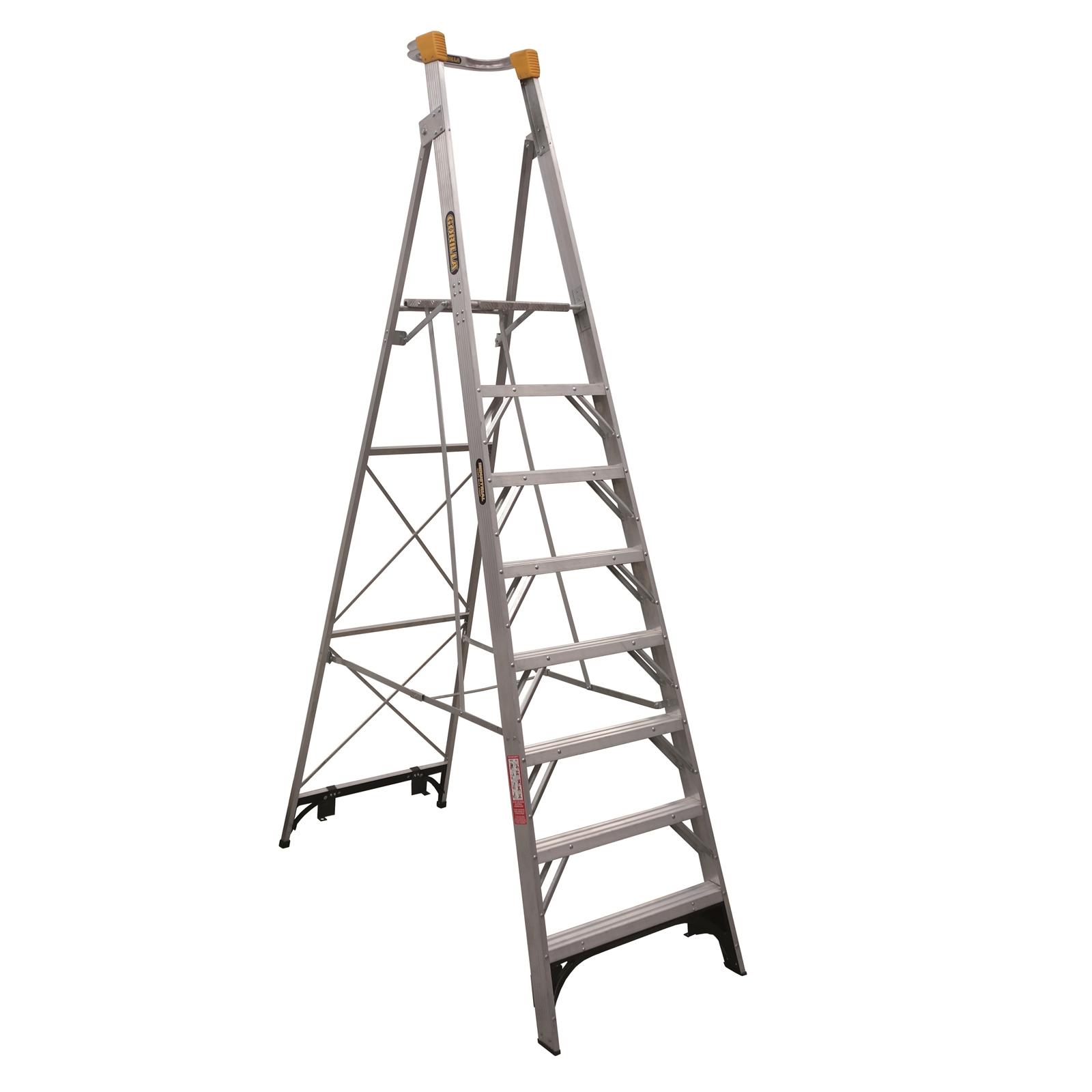 Gorilla Aluminium Platform Ladder 8 Steps 11ft 8ft 3 3m 2