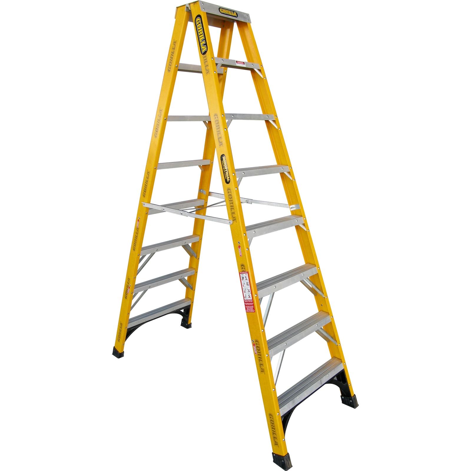 Gorilla Fibreglass Double Sided Step Ladder 150 Kg 8ft 2