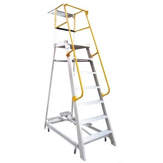 Gorilla Aluminium Order Picking Ladder 200kg 2 1m Ladder