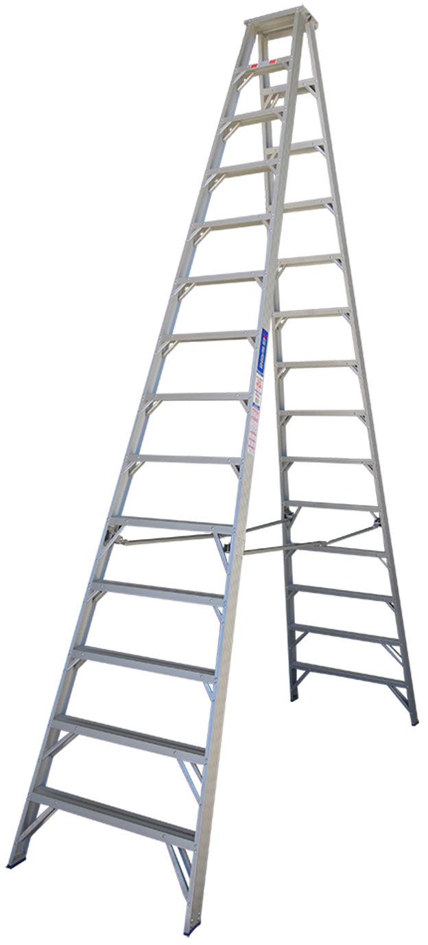 indalex pro series aluminium double sided step ladder 14ft ladder central australia. Black Bedroom Furniture Sets. Home Design Ideas