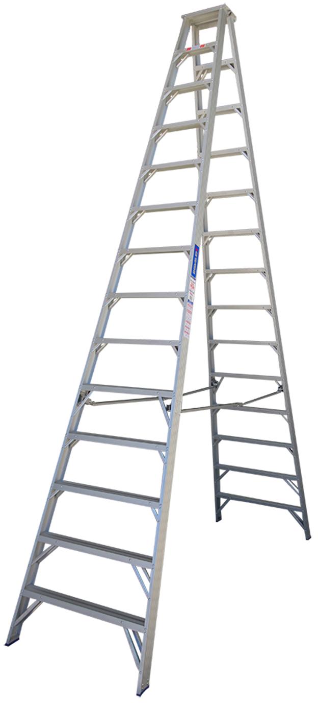 indalex pro series aluminium double sided step ladder 14ft ladder central australia. Black Bedroom Furniture Sets. Home Design Ideas