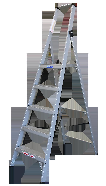 Indalex Tradesman Aluminium Slimline Platform Ladder 2 4m 1 5m