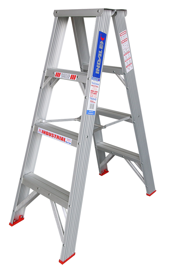 Indalex Tradesman Aluminium Double Sided Step Ladder 4ft 1