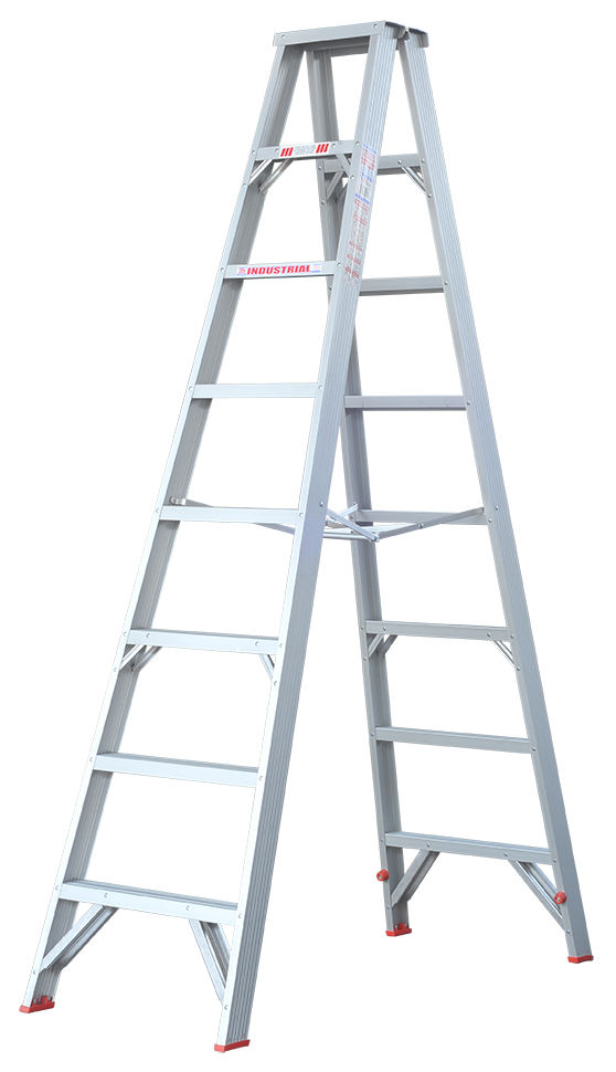 Indalex Tradesman Aluminium Double Sided Step Ladder 8ft 2
