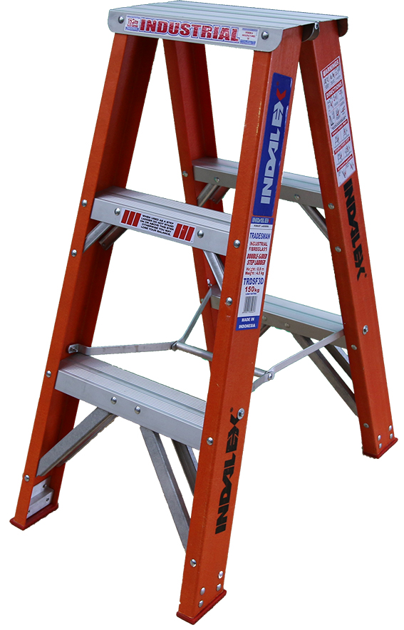 Indalex Tradesman Fibreglass Double Sided Step Ladders 3ft