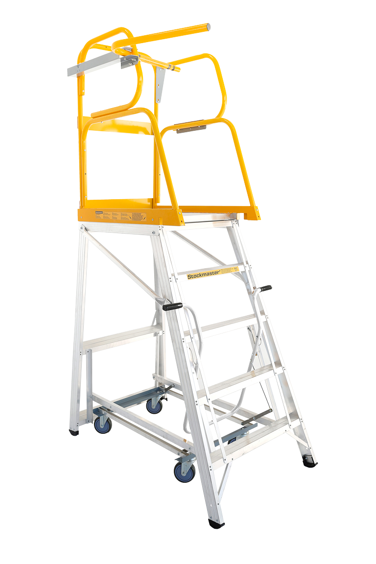 Stockmaster Navigator Mobile Platform Ladder 1 435m