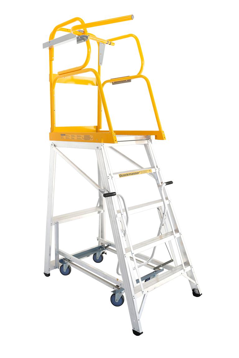 Stockmaster Navigator Mobile Platform Ladder 2.295m   Ladder Central  Australia