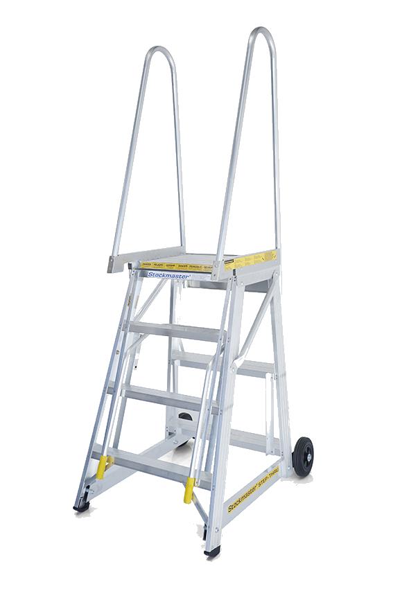 Stockmaster Step Thru Mobile Access Platform Ladder 1 72m